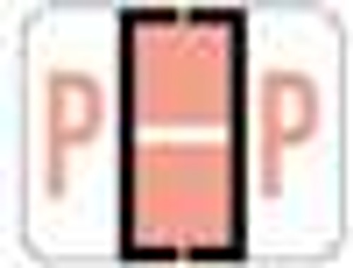 File Doctor Alphabetic Labels - FDAV Series (Rolls) P- Pink