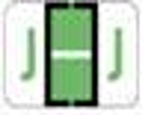 File Doctor Alphabetic Labels - FDAV Series (Rolls) J- Fl. Green