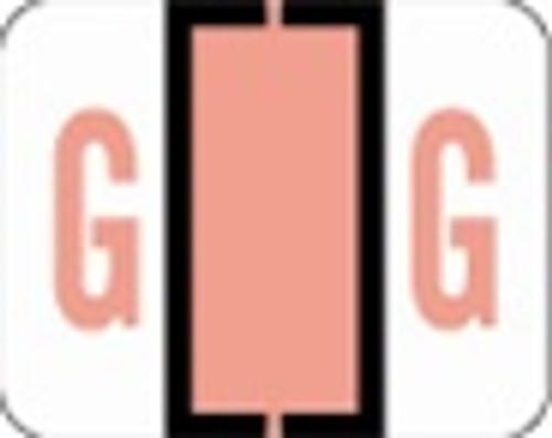 File Doctor Alphabetic Labels - FDAV Series (Rolls) G- Pink