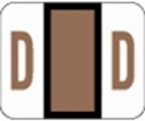 File Doctor Alphabetic Labels - FDAV Series (Rolls) D- Brown