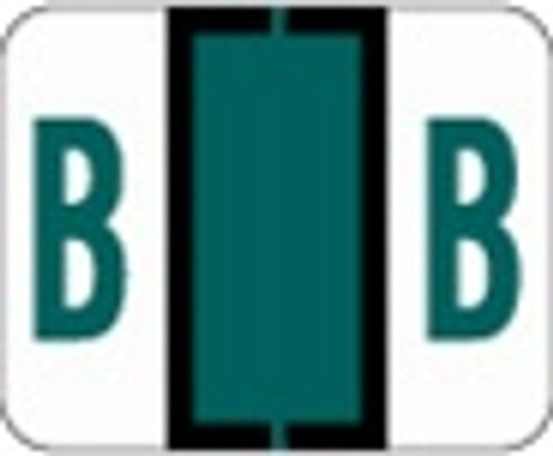 File Doctor Alphabetic Labels - FDAV Series (Rolls) B- Dk. Green