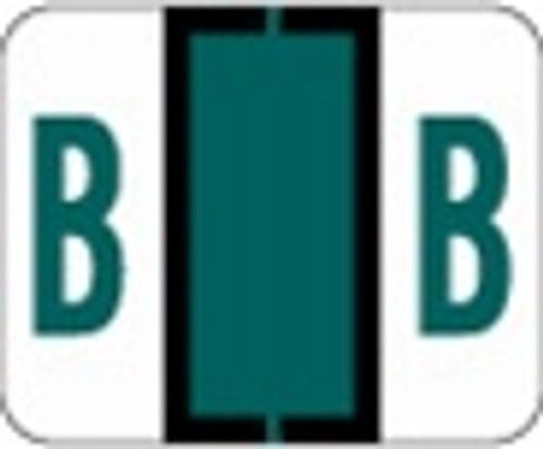 File Doctor Alphabetic Labels - FDAV Series (Rolls) B- Dk. Green