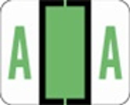 File Doctor Alphabetic Labels - FDAV Series (Rolls) A- Fl. Green