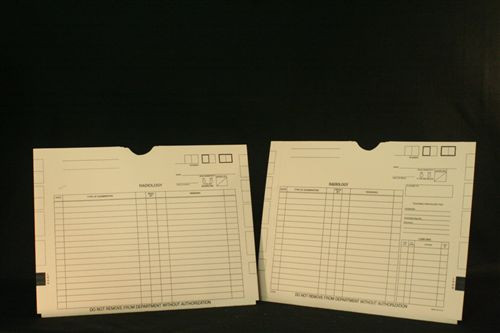 "X-Ray Jacket - 11 pt. Manila Stock - 14 1/2"" X 18 1/4"" - Without Pocket - 100/Carton"