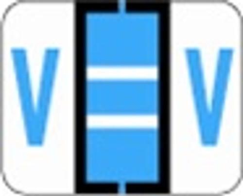 File Doctor Alphabetic Labels - FDAV Series (Rolls) V- Blue