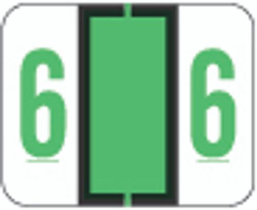 File Doctor Numeric Label - FDNV Series (Rolls) - 6 - Fl. Green