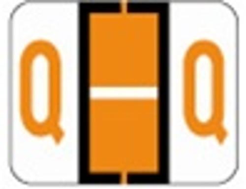 File Doctor Alphabetic Labels - FDAV Series (Rolls) Q- Orange