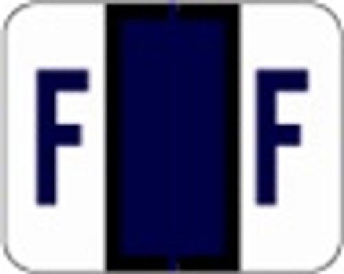 File Doctor Alphabetic Labels - FDAV Series (Rolls) F- Purple