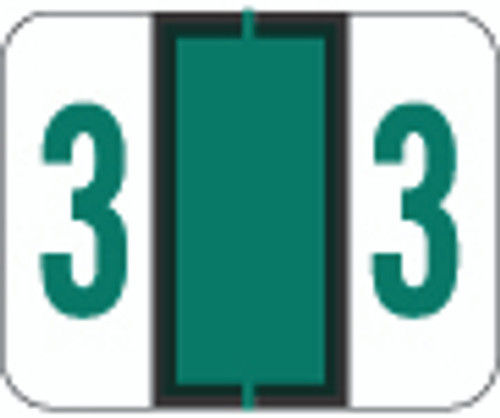 File Doctor Numeric Label - FDNV Series (Rolls) - 3 - Dk. Green