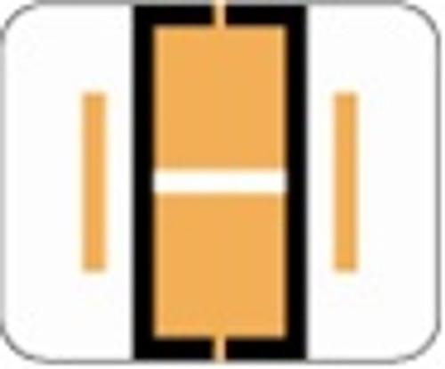 File Doctor Alphabetic Labels - FDAV Series (Rolls) I- Fl. Orange