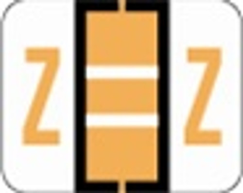 File Doctor Alphabetic Labels - FDAV Series (Rolls) Z- Fl. Orange
