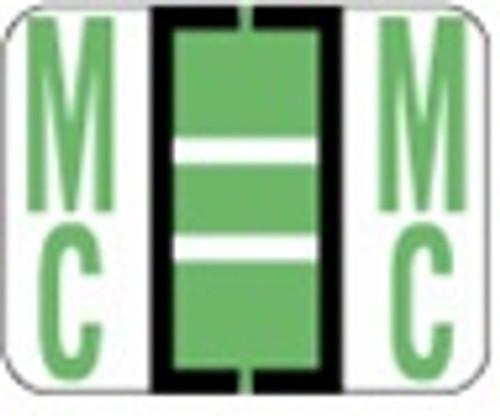 File Doctor Alphabetic Labels - FDAV Series (Rolls) Mc- Fl. Green