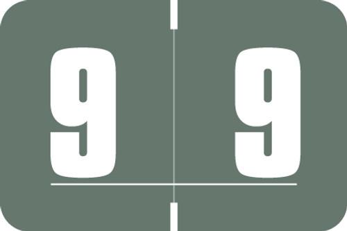 Digi Color Numeric Label - DXNM Series (Rolls) - 9 - Gray