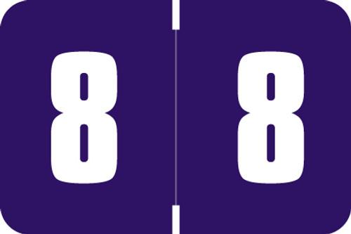 Digi Color Numeric Label - DXNM Series (Rolls) - 8 - Purple