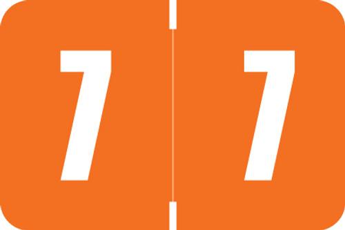 Digi Color Numeric Label - DXNM Series (Rolls) - 7 - Orange