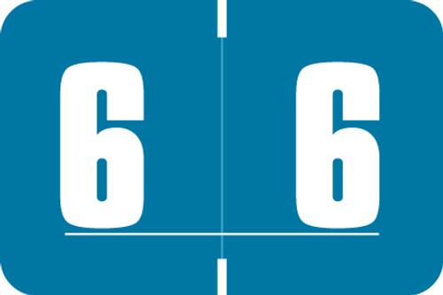 Digi Color Numeric Label - DXNM Series (Rolls) - 6 - Blue