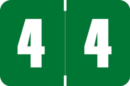 Digi Color Numeric Label - DXNM Series (Rolls) - 4 - Green