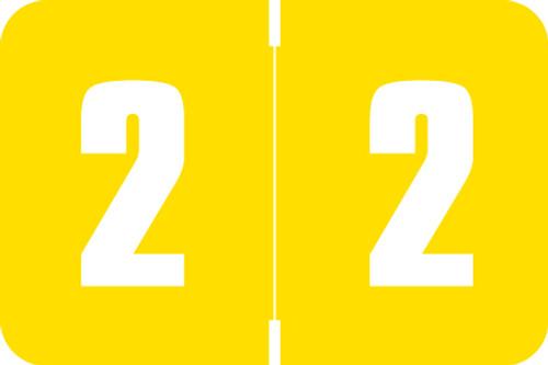 Digi Color Numeric Label - DXNM Series (Rolls) - 2 - Yellow