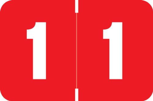 Digi Color Numeric Label - DXNM Series (Rolls) - 1 - Red