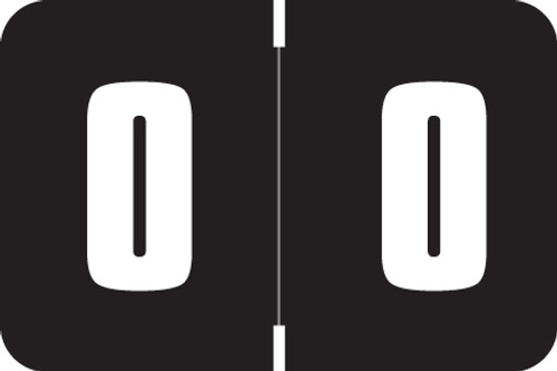 Digi Color Numeric Label - DXNM Series (Rolls) - 0 - Black