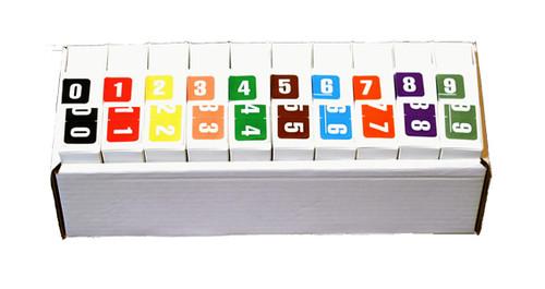Digi Color Numeric Label - DXNM Series (Rolls) - 0-9 Complete Set - Rolls of 250 for each Number 0-9