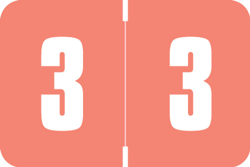 Digi Color Numeric Label - DXNM Series (Rolls) - 3 - Pink