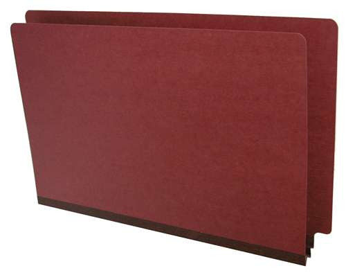End Tab Pressboard Folder - Legal Size - Box of 25 - Color = Red - Tyvek 2 inch Expansion