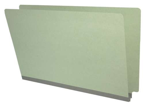 End Tab Pressboard Folder - Legal Size - Box of 25 - Color = Grey - Tyvek 2 inch Expansion