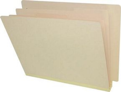"18 PT. Manila End Tab Classification Folders with 2"" Expansion - Letter Size - 2 dividers with duo fasteners - Box of 10"