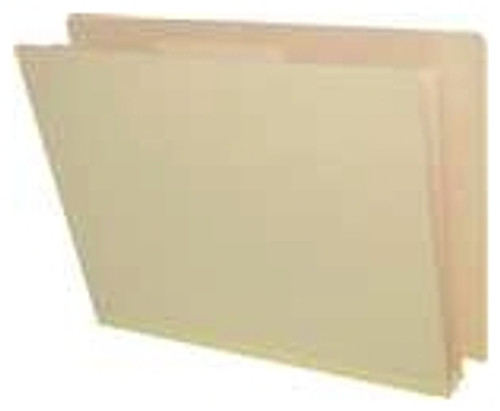"18 Pt. Manila End Tab Classification Folder - 1 divider with duo fasteners - 2"" Tyvek Expansion - Letter Size - Fasteners in Position 1 & 3 - 10/Box"