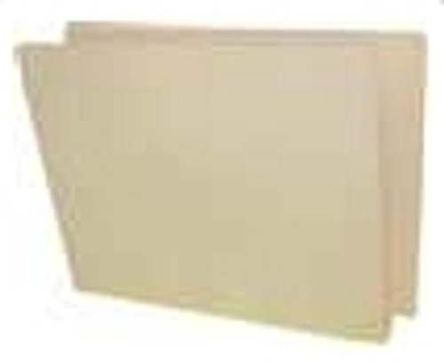 "End Tab Pressboard Folder with 2 Fasteners in Positions 1 & 3 and 2"" Expansion - Letter Size - Manila Color - 25/Box"