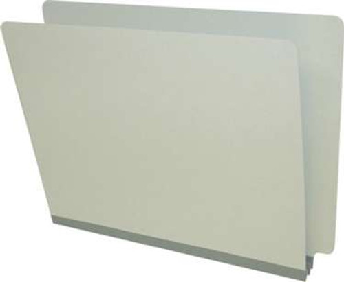 "End Tab Pressboard Folder - Tyvek 2"" Expansion - Letter Size - 25/Box - Pearl Green"