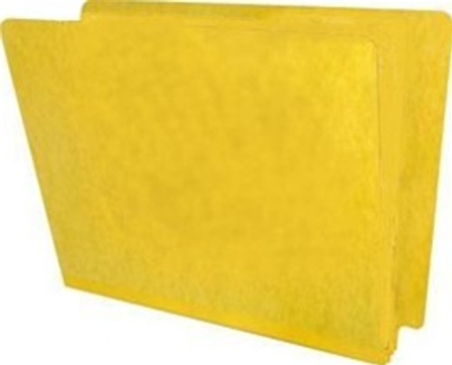 "End Tab Pressboard Folder - 2"" Expansion - Letter Size - No Fasteners - Yellow - 25/Pack"