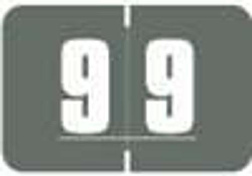 Digi Color Numeric Label - DCNM Series (Rolls) - 9 - Gray