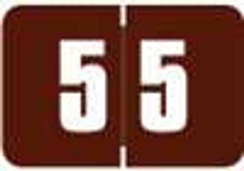 Digi Color Numeric Label - DCNM Series (Rolls) - 5 - Brown