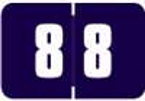Digi Color Numeric Label - DCNM Series (Rolls) - 8 - Purple
