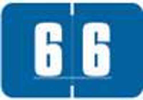 Digi Color Numeric Label - DCNM Series (Rolls) - 6 - Blue