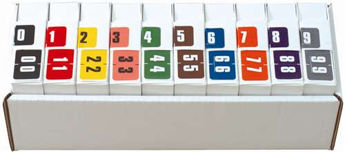 Digi Color Numeric Label - DCNM Series (Rolls) - 0-9 Set with tray