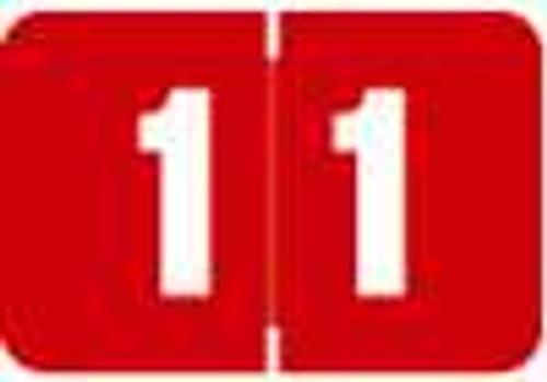 Digi Color Numeric Label - DCNM Series (Rolls) - 1 - Red