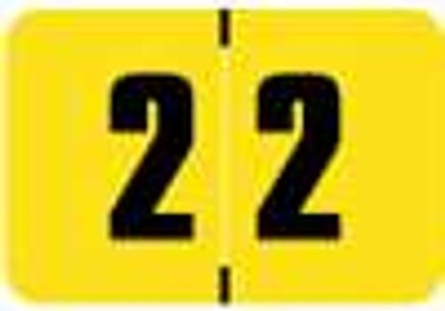 Digi Color Numeric Label - DCNM Series (Rolls) - 2 - Yellow