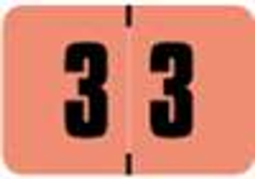 Digi Color Numeric Label - DCNM Series (Rolls) - 3 - Pink