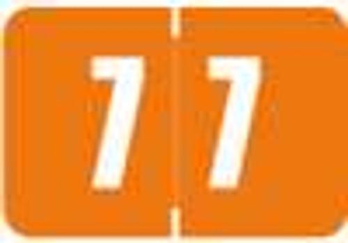 Digi Color Numeric Label - DCNM Series (Rolls) - 7 - Orange