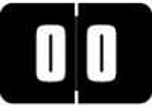 Digi Color Numeric Label - DCNM Series (Rolls) - 0 - Black