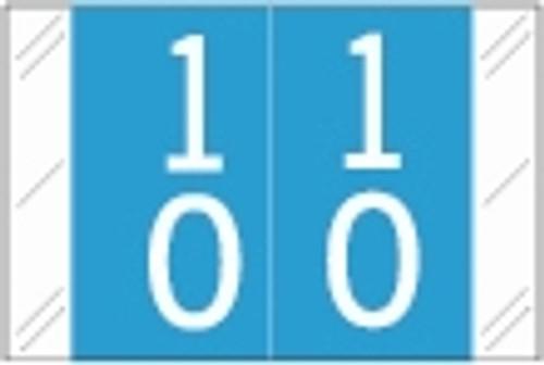 Tabbies Numeric Label - 11200 Series (Rolls) - 10 - Lt. Blue