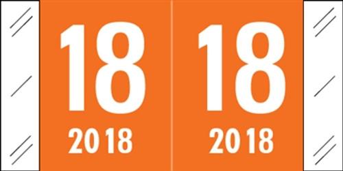 Col'R'Tab Yearband Label (Rolls of 500) - 2018 - Orange - CRYM Series - Laminated