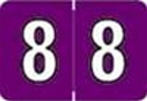 Colwell Jewel Numeric Label - CONM Series (Rolls) - 8 - Grape