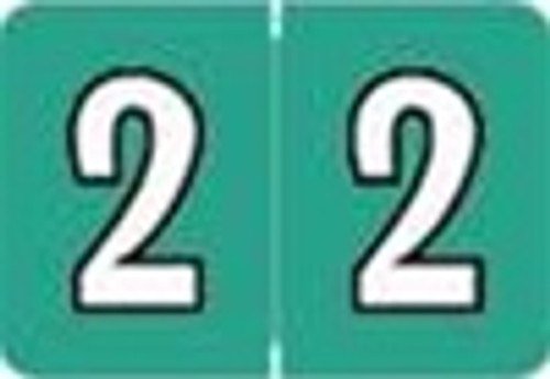 Colwell Jewel Numeric Label - CONM Series (Rolls) - 2 - Jade