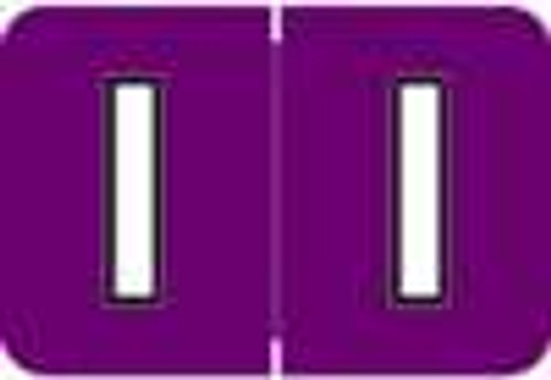 Colwell Jewel Alphabetic Labels - COAM Series (Rolls) I- Purple
