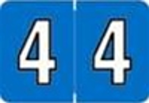 Colwell Jewel Numeric Label - CONM Series (Rolls) - 4 - Aqua Blue