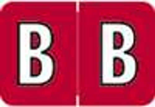 Colwell Jewel Alphabetic Labels - COAM Series (Rolls) B- Red